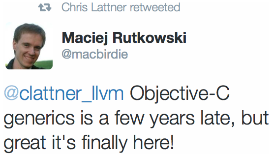 Chris Lattner retweeted